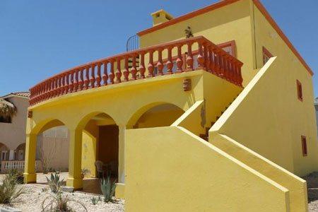 Rocky Point Las-Conchas-House-Rental-Casa-Amarilla-Upper-Floor-Front-Views