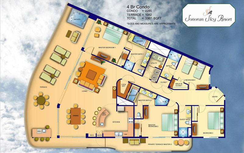 Sonoran Sky Resort 4 Bedroom Floor Plan