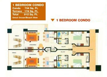 Sonoran Sun Resort Rcoky Point 1 Bdrm Condo Floor Plan