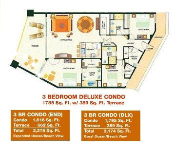 Sonoran-Sun-Resort-Rocky-Point-3-Bdrm-Dlx-Condo-Floor-Plan